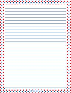 patriotic writing paper with lines Need another type of writing paper such as notebook paper, writing paper, primary writing paper, composition paper, or lined stationary select the print paper type you need from the list at the top left of this screen.