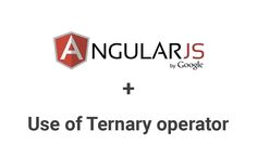 AngularJS now supports a ternary condition in its expressions. The basic syntax is as below. {{(condition) ? true : false}}
