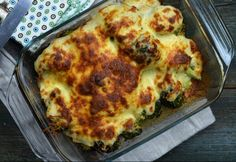 Csőben sült brokkoli hagymás besamellel Menu Planning, Lasagna, Quiche, My Recipes, Tapas, Food And Drink, Homemade, Dishes, Vegetables