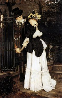 La despedida | The Farewell, James Jacques Joseph Tissot (1871) Bristol Museum and Art Gallery.