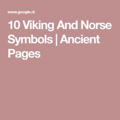 10 Viking And Norse Symbols   Ancient Pages
