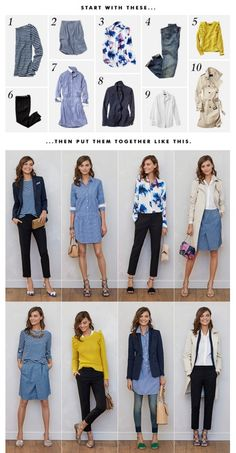 Banana Republic - Ten Pieces - SS16 #womensfashion #outfit