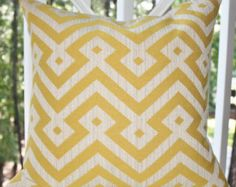 Yellow Diagonal Geometric - (from LR Throw Pillows by indigoberry3 on Etsy - Motif Pillow Shop)
