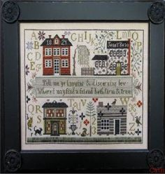 Jenny Bean Friendship Sampler SP 10 2332 grille Shakespeare's Peddler