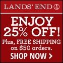 Land's End 25% Off!