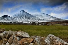 Slieve Binnion in winter. Mountains of Mourne, Co Down