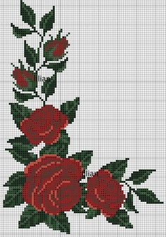 55 Flores Gráficos in Ponto Cruz – Grátis para Baixar Cross Stitching, Cross Stitch Embroidery, Embroidery Patterns, Hand Embroidery, Cross Stitch Rose, Cross Stitch Flowers, Cross Stitch Designs, Cross Stitch Patterns, Upcycled Crafts
