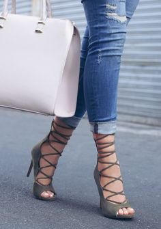 Lola Shoetique | Lace-ups | Olive | Fall Fashion