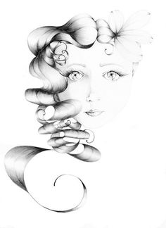 Pencil Drawing Fantasy Art Beauty Giclee Print by ABitofWhimsyArt, $30.00