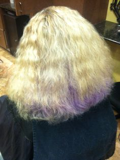 Client brought in bad hair cut and failed color look for after shot JOHN DAVID SALON 805-501-1414