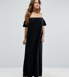 Get this Asos Petite's casual dress now! Click for more details. Worldwide shipping. ASOS PETITE Off Shoulder Maxi Dress - Black: Petite dress by ASOS PETITE, Pure-cotton jersey, Stretch off-shoulder design, Loose fit � falls loosely over the body, Machine wash, 100% Cotton, Our model wears a UK 8/EU 36/US 4, Maxi dress length between: 135.5-145.5cm. 5�3�/1.60m and under? The London-based design team behind ASOS PETITE take all your fashion faves and cut them down to size. Say goodbye t...