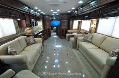 Beautiful new motor home! We could sell the house and move in this :)