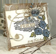 Anna marie designs Crafty Projects, Projects To Try, Pretty Cards, Design Crafts, Card Making, Anna, Greeting Cards, Handmade Cards, Stamping