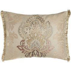 Jane Wilner Designs Standard Eliza Embroidered Sham (1,410 SAR) ❤ liked on Polyvore featuring home, bed & bath, bedding, bed accessories, ivory, cream colored bedding, ivory bedding, embroidered pillow shams, cream bedding and beige bedding
