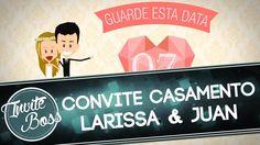 Convite Animado Casamento (Personagem) - Larissa e Juan