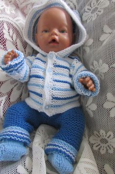 Your place to buy and sell all things handmade Girl Dolls, Baby Dolls, American Doll Clothes, Hooded Cardigan, Acrylic Wool, Baby Born, Knitted Dolls, American Girl, Light Blue