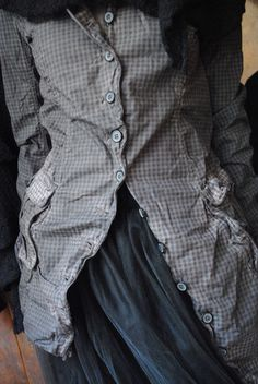 Miss Melissa: small gray jacket and black tulle