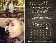 Save The Date Magnet or Card . Vintage Calendar