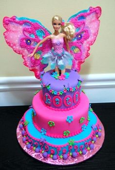 Black Barbie Birthday Cake Also Birthday Cake Ideas Barbie Fairy Princess Perfec. Black Barbie Birthday Cake Also Birthday Cake Ideas Barbie Fairy Princess Perfect Party Pink Blue P Fairy Birthday Cake, Barbie Birthday Cake, Birthday Cake Girls, Barbie Fairy Cake, 5th Birthday, Birthday Ideas, Barbie Doll, Happy Birthday, Barbie Torte