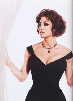 Gina Gershon as Sophia Loren by Kevin Aucoin
