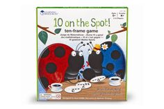 This bingo-style game is not about matching, it's about making Cover the numbered spots on the ladybug with the numbered pieces that together make ten! Cards feature ten-frames on one side for beg 10 Frame, Ten Frames, Math Games, Math Activities, Maths, Number Games, Discovery Toys, Math Division, Grande Section