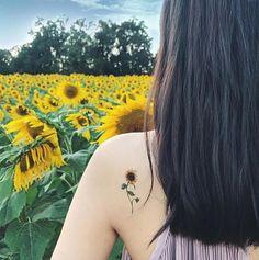 Flower Temporary Tattoos Set of 8 flower tattoos lavender rose peony lily sunflower pink blue redyellow handmade gift Sunflower tattoo Mini Tattoos, Trendy Tattoos, Rose Tattoos, Body Art Tattoos, New Tattoos, Small Tattoos, Sleeve Tattoos, Tattoos For Women, Tatoos