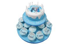 Frozen Cake & Cupcakes Frozen Theme Cupcakes, Themed Cupcakes, Frozen Cake, Elsa, Celebration, Birthday, Birthdays, Dirt Bike Birthday, Jelsa