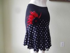 Argentinian Tango Skirt Size fits 4 and 6 by COCOsDANCEWEAR