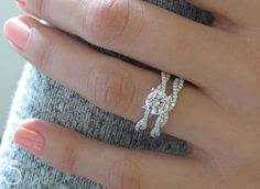 We love this twist diamond shank engagement ring design from Sylvie Collection!