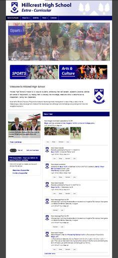 A Co-Curricular website for Hillcrest High School.