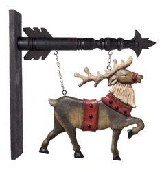 Hanging Reindeer Sign (sign only)
