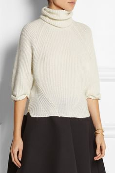 Knit Inspiration - Agnona | Cashmere and mohair-blend turtleneck sweater