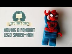 How to make lego spiderman / spider-man in fondant / gum paste / flower or modelling paste for cake decorating. For my more basic lego figure please watch ht. Lego Batman Cakes, Lego Spiderman, Lego Cake, Lego Superhero Cake, Lego Ninjago, Spiderman Birthday Cake, Lego Birthday, Birthday Ideas, Fondant Figures Tutorial