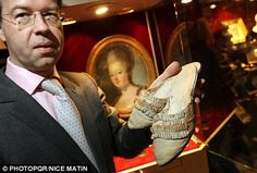 Marie Antoinette's single pair of shoes fetch £36000 - She has gone down in history as a muse to fashion designers past and present for her extravagant taste and decadent lifestyle. At a recent auction of French Revolution Era artifacts in Toulan, France, a pair of Marie Antoinette's dainty slip-on shoes was bought by a fashion collector who finally paid over £36,000.