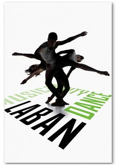 This dance poster is so simple and expressive.  What caught my eye (besides great composition) is how the figures are partly silhouetted. That detail, not only creates balance, but it also helps visually connect with the name of the dance company. Bravo!