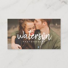 Modern Photography White Script | Business Cards