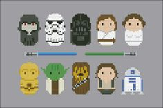 Star Wars - Movies - Mini People - Cross Stitch Patterns - Products