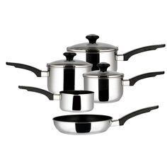 Prestige Prestige 5-Piece Non-Stick Stainless Steel Cookware Set - Wayfair £51 INDUCTION PANS #InductionPans
