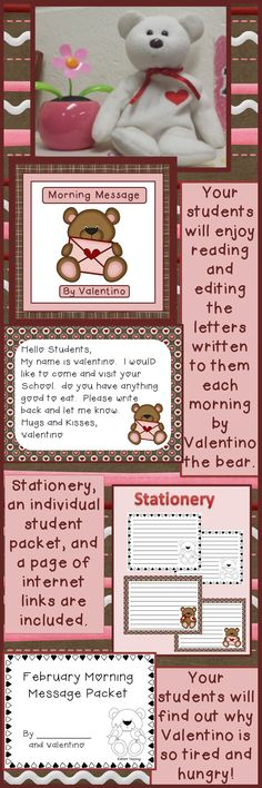 A rigorous learning activity for your students to do while you take attendance and lunch count. Make every minute count! A fun way to incorporate reading and writing into your classroom. Children can edit the messages individually before correcting as a class. Make learning fun for your students! $