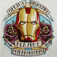 GENIUS BILLIONAIRE PLAYBOY  PHILANTHROPIST  tatoo