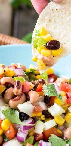 Texas Caviar Bean Dip - a great appetizer for summer entertaining.