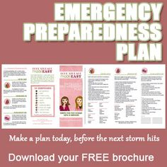 After the results last night - now, more than ever, prepare your family! Emergency Preparedness Plan Download.