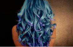 #Hair #Fantasy #Blue #Ombré purple