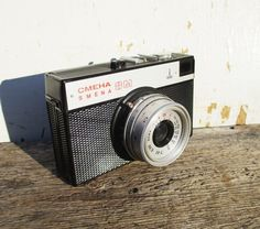 Photo Camera Soviet 35mm Film Lomo Smena 8M USSR by MerilinsRetro