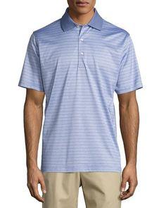 Jordan Striped Cotton Lisle Polo Shirt