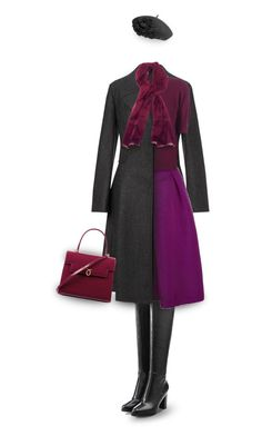 """""""Elegant outfit in purple tones"""" by muse-charming ❤ liked on Polyvore featuring Steffen Schraut, John Lewis, Betmar, Trilogy, Ted Baker, Alice + Olivia and Launer"""