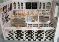 This is a beautifully handcrafted cupcake shop designed by Marlyn Garcia Brown. It was based on a cupcake shop in Manila, Philippines.