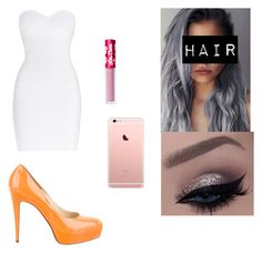 """""""Sin título #60"""" by lmariiax on Polyvore featuring moda, Hervé Léger, Lime Crime y Brian Atwood"""