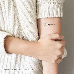 'Imagine' Temporary Tattoo (Set of – Small Tattoos One Word Tattoos, Small Tattoos, Toe Nail Art, Acrylic Nails, Tattoo Designs, Nail Designs, Tattoo Ideas, Tattoo Now, Orange Nails