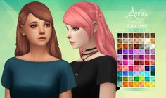 Aveira Sims 4: Enrique's Jenn Hairstyle - Recolor • Sims 4 Downloads